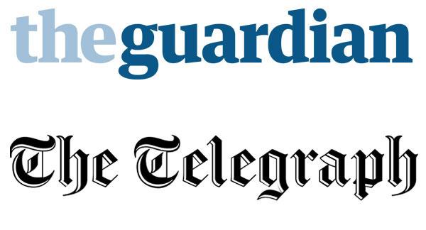 The Guardian + The Telegraph Logos