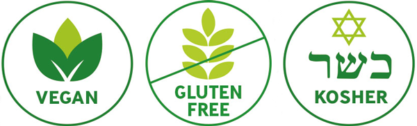 Vegan - Gluten Free - Kosher