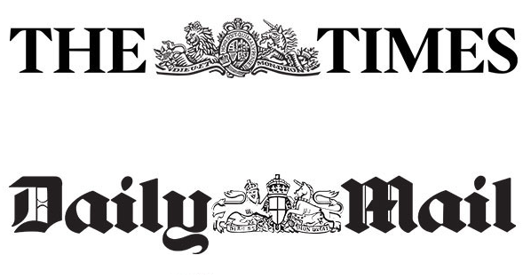 The Times + Daily Mail Logos